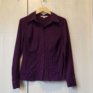 2/$20❤ Purple Cleo button down top